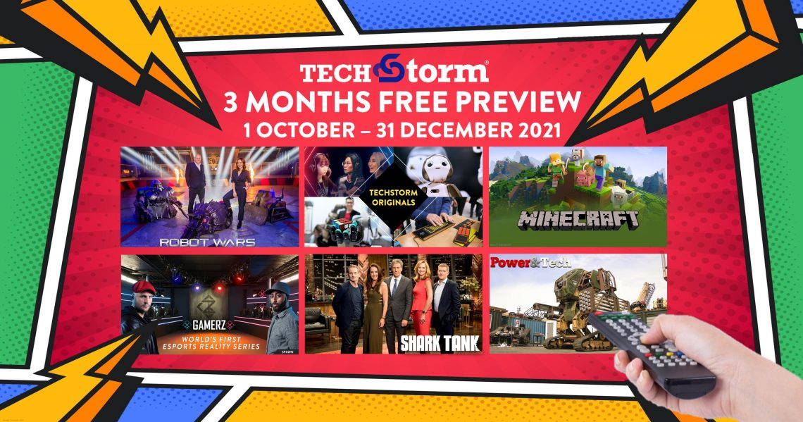 Unifi TV offers 3 Months Free Preview of TechStorm Channel from October 2021